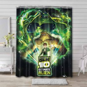 Ben 10 Cartoon Characters Characters Shower Curtain Waterproof Polyester