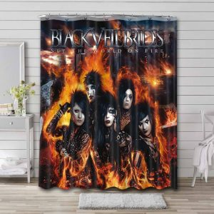 Black Veil Brides Set The World On Fire Shower Curtain Waterproof Polyester