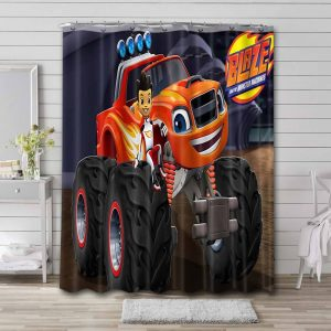 Blaze and the Monster Machines Shower Curtain Bathroom Decoration