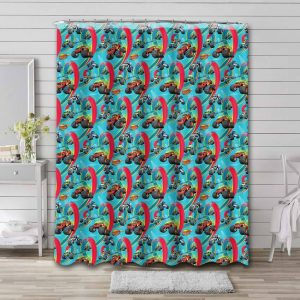 Blaze and the Monster Machines Patterns Shower Curtain Bathroom Waterproof