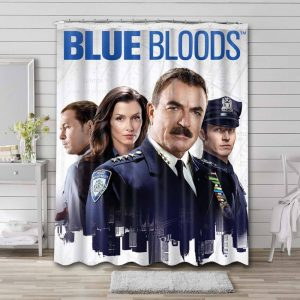 Blue Bloods Shower Curtain Waterproof Polyester