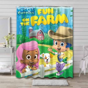 Bubble Guppies Shows Shower Curtain Waterproof Polyester