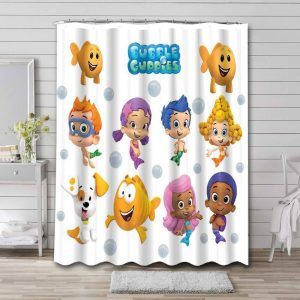 Bubble Guppies Characters Shower Curtain Bathroom Decoration