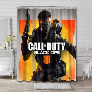 Call of Duty Black Ops Shower Curtain Waterproof Polyester