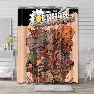 Cannon Busters Bathroom Shower Curtain Waterproof