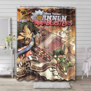Cannon Busters Waterproof Shower Curtain Bathroom