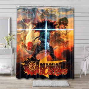 Cannon Busters Waterproof Bathroom Shower Curtain