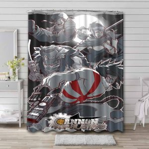 Cannon Busters Characters Shower Curtain Waterproof Polyester