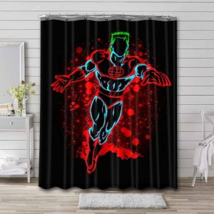 Captain Planet and the Planeteers Bathroom Shower Curtain Waterproof