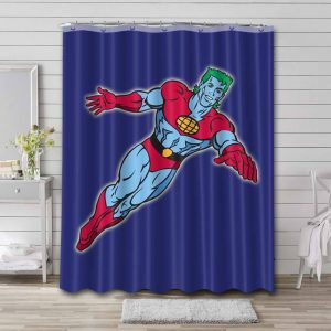 Captain Planet and the Planeteers Waterproof Shower Curtain Bathroom