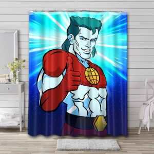 Captain Planet and the Planeteers Waterproof Curtain Bathroom Shower