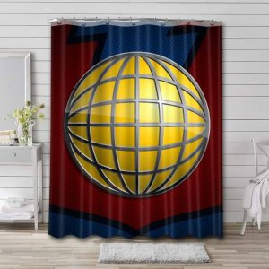 Captain Planet and the Planeteers Logo Shower Curtain Bathroom Waterproof