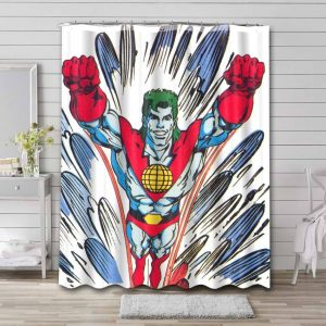 Captain Planet and the Planeteers Cartoon Shower Curtain Waterproof Polyester