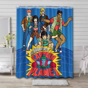 Captain Planet and the Planeteers Shower Curtain