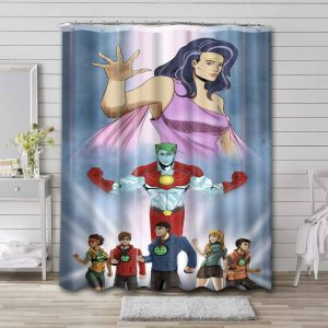 Captain Planet and the Planeteers Shower Curtain Bathroom Waterproof