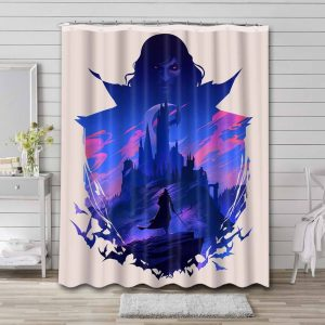 Castlevania Shower Curtain Waterproof Polyester
