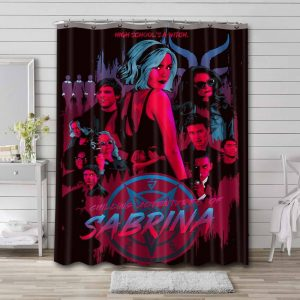 Chilling Adventures of Sabrina Characters Bathroom Curtain Shower