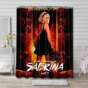 Chilling Adventures of Sabrina TV Shows Bathroom Shower Curtain Polyester