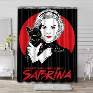 Chilling Adventures of Sabrina Characters Shower Curtain Bathroom Decoration