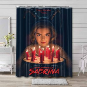 Chilling Adventures of Sabrina Characters Shower Curtain Polyester