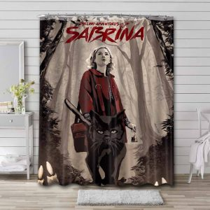 Chilling Adventures of Sabrina Characters Bathroom Shower Curtain Polyester