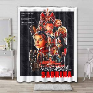 Chilling Adventures of Sabrina Characters Bathroom Shower Curtain