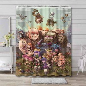 Clash of Clans Shower Curtain Waterproof Polyester