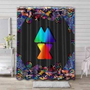Coldplay Mylo Xyloto Shower Curtain Bathroom Decoration