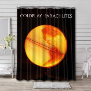 Coldplay Parachutes Shower Curtain Waterproof Polyester