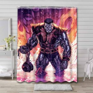 Colossus Deadpool Shower Curtain Waterproof Polyester