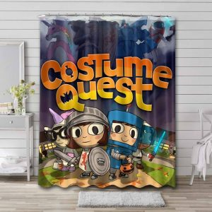Costume Quest Shower Curtain Waterproof Polyester