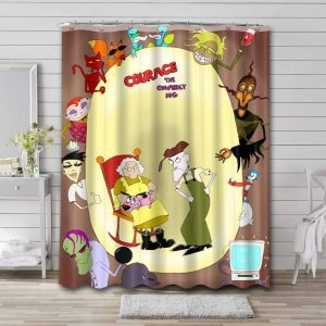 Courage the Cowardly Dog Characters Shower Curtain Bathroom Decoration