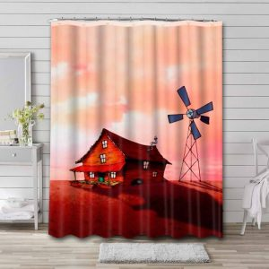 Courage the Cowardly Dog House Waterproof Bathroom Shower Curtain