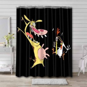 Cow and Chicken Bathroom Shower Curtain Waterproof