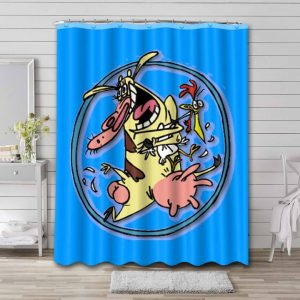 Cow and Chicken Shower Curtain