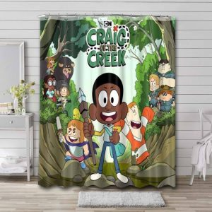Craig of the Creek Characters Shower Curtain Waterproof Polyester