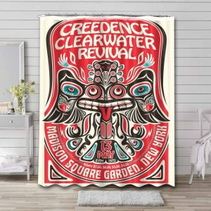 Creedence Clearwater Revival Shower Curtain Bathroom Decoration