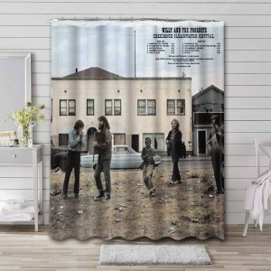 Creedence Clearwater Revival Willy and the Poor Boys Waterproof Shower Curtain Bathroom