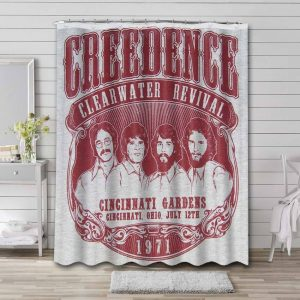 Creedence Clearwater Revival Shower Curtain Waterproof Polyester