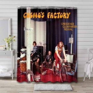 Creedence Clearwater Revival Cosmo's Factory Waterproof Bathroom Shower Curtain