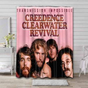 Creedence Clearwater Revival Transmission Impossible Waterproof Curtain Bathroom Shower