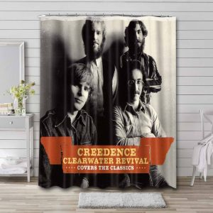 Creedence Clearwater Revival Covers Shower Curtain Bathroom Decoration