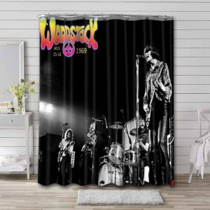 Creedence Clearwater Revival Live At Woodstock Shower Curtain Waterproof Polyester