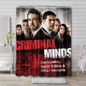Criminal Minds Shower Curtain Waterproof Polyester