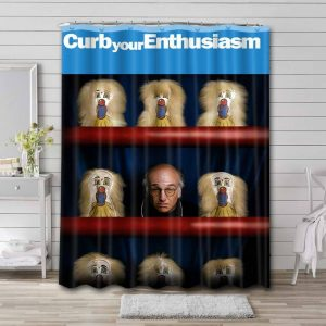 Curb Your Enthusiasm Shower Curtain Waterproof Polyester