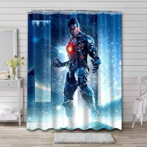 Cyborg Justice League Shower Curtain Waterproof Polyester