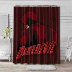 Daredevil TV Show Shower Curtain Waterproof Polyester