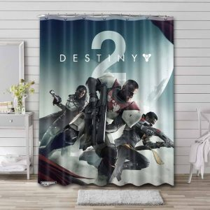 Destiny Game Poster Shower Curtain Waterproof Polyester