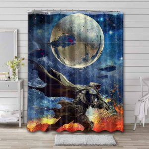 Destiny Game Shower Curtain Waterproof Polyester