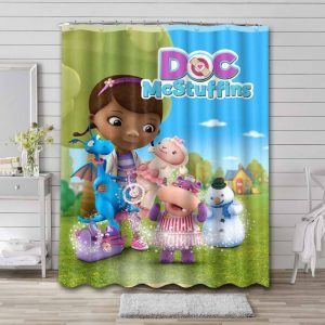 Doc McStuffins Characters Shower Curtain Waterproof Polyester